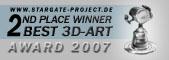 3D-Artwork Silber